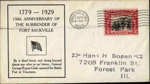 #651-38 U.S. FIRST DAY COVER CACHET BM9539