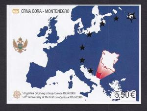 Montenegro   #130   MNH  2006  imperf  Europa stamps 50th anniversary