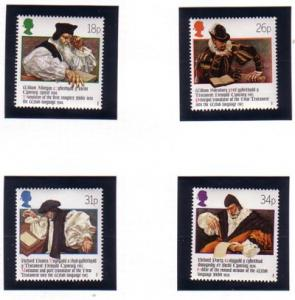 Great Britain Sc 1205-8 1988 Welsh Bible stamp set mint NH