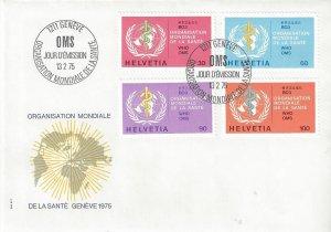 Switzerland 5o36-5o39   FDC World Health Organization
