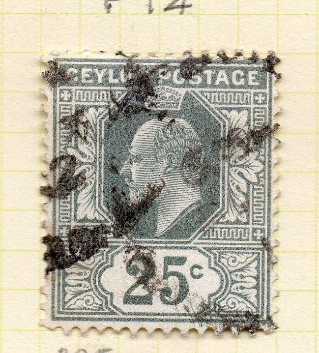 Ceylon 1910-11 Early Issue Fine Used 25c. 263425