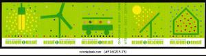 BELGIUM - 2009 GREEN STAMP ENVIRONMENT SG#4248-52 5V STRIP MNH SELF-ADHESIVE