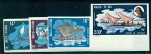 WALLIS & FUTUNA #179-81 C41 Complete set, Canoe racing, imperf, og, LH, VF