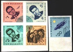 Bulgaria. 1965. 1517-21. Soviet cosmonauts. MNH.