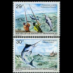 NEW CALEDONIA 1979 - Scott# C153-4 Fishing Set of 2 NH
