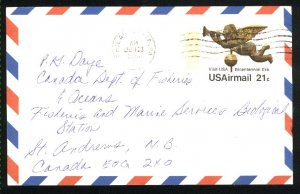 USA Airmail postcard 21 cent b 1980  PD