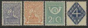 Netherlands 113 to 116 mh complete set