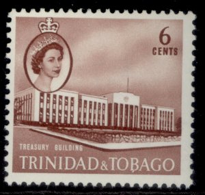 TRINIDAD & TOBAGO QEII SG287, 6c red-brown, M MINT.