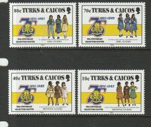 Turks & Caicos Islands 1985 75th Anniv Guides UM/MNH SG 883/6