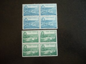 Stamps - Cuba - Scott# 590,C178 - Mint Hinged Set of 2 Stamps in Blocks of 4