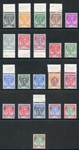 Kelantan SG61/81 1951 Set of 21 M/Mint