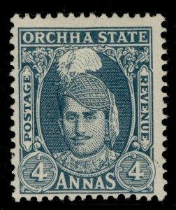 INDIAN STATES - Orchha GVI SG40, 4a slate, M MINT. Cat £11.