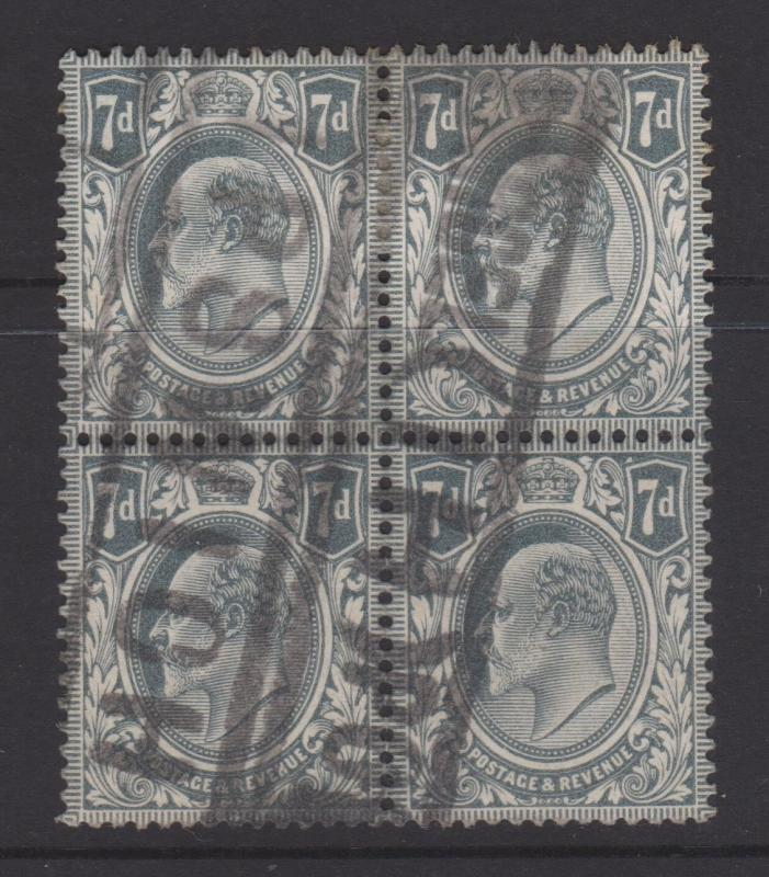 Great Britain 1910 KEVII Sc#145 Block of 4 Used
