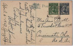 ZANZIBAR  -  POSTAL HISTORY - POSTCARD to USA - 1927