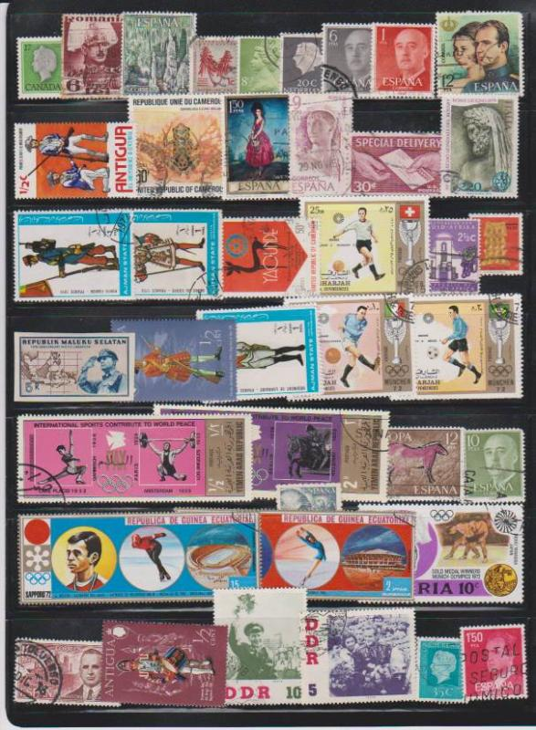 LOT OF DIFFERENT STAMPS OF THE WORLD USED (39) LOT#121