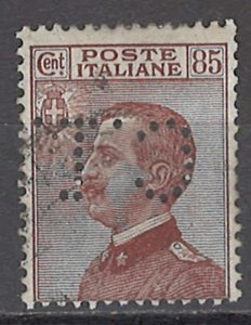 COLLECTION LOT OF #1111 ITALY # 110 1920 c t perfin CV=$30