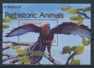 [107078] Sierra Leone 2004 Prehistoric animal dinosaur bird Sheet MNH