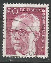 BERLIN, 1970, used 90pf Pres Heinemann Scott 9N295