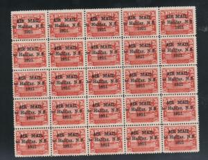 Newfoundland #C3 Very Fine Mint Rare Full Sheet Of 25