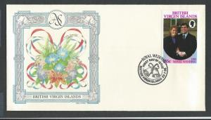 BRITISH VIRGIN ISLANDS  FDC  Prince Andrew & Sarah Ferguson Royal wedding