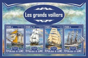 GUINEA - 2017 - Tall Ships - Perf 4v Sheet - MNH