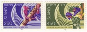 Iceland #554-5 MLH Europa set