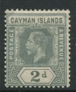 Cayman Islands - Scott 35 - KGV Definitive Issue -1912 - MH - Single 2d Stamp