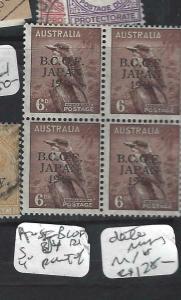 AUSTRALIA  (PP1904B)  BCOF 6D SG J4 MISSING 46 OF 1946 BL OF 4   MNH