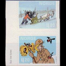 NORWAY 2000 - Scott# 1271a Comic Cartoons Set of 2 NH