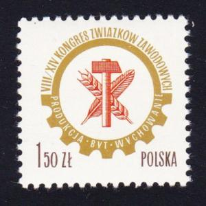 Poland 798th Polish Trade Union Congress 1v SG#2460 SC#2187