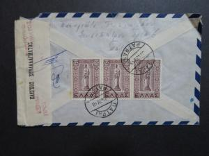 Greece 1948 Censor Airmail Cover to USA - Z8631