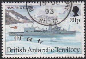 British Antarctic Territory 1993 used Sc #208 20p HMS Protector Research Ships