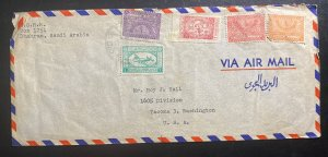 1950s Dhahran Saudi Arabia Airmail Cover To Tacoma WA Usa