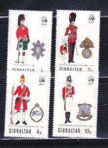 Gibraltar 276-279 Set MNH Military Uniforms
