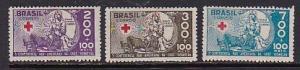 Brazil 1935 Scott B5-B7 Red Cross Conference MLH