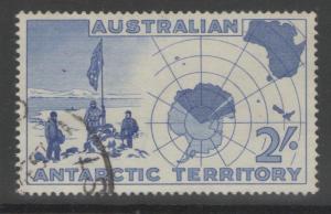 AUSTRALIAN ANTARCTIC TERR SG1 1957 2/= ULTRAMARINE FINE USED