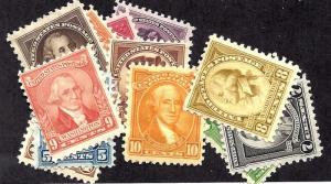 704-715 Mint,OG,H/HR... SCV $20.65