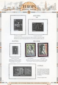EUROPA  1975  SELECTION OF MINT NH STAMPS AND SOUVENIR SHEETS AS SHOWN