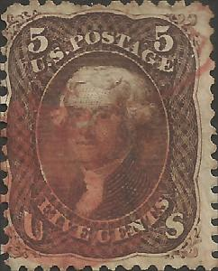 # 76 Brown Used Double Transfer of Top And Bottom Frame Lines Thomas Jefferson