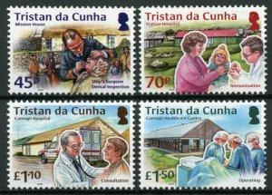 Tristan da Cunha Medical Stamps 2020 MNH Healthcare Hospitals Health 4v set