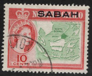Malaysa Sabah overprint on North Borneo Scott 5 Used