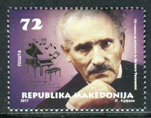252 - MACEDONIA 2017 - ARTURO TOSCANINI - Italian Conductor - Musics - MNH Set
