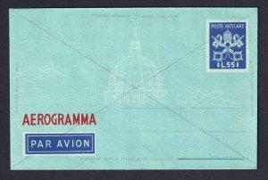 ITALY VATICAN CITY L55 MINT AIR LETTER SHEET €125