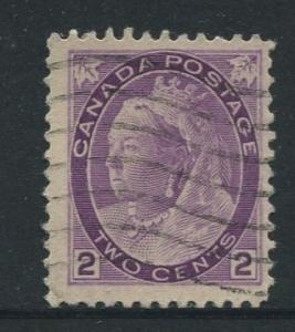 Canada - Scott 76 - Queen Victoria - 1898 - Used - Single 2c Stamp
