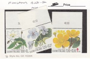 J25760  jlstamps 1983 finland set mnh #b230-2 flowers all checked
