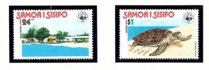 Samoa 470-71 MNH 1978 Turtles
