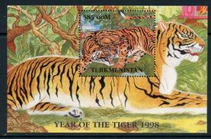 Turkmenistan MNH S/S Sleeping Tiger 1998