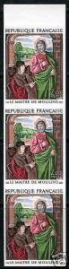 FRANCE LE MAITRE DE MOULINS IMPERFORATED  STRIP MINT NH