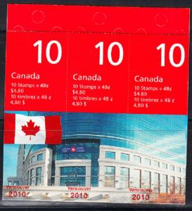 CANADA # 1991a Booklet Vancouver 2010 Olympics - BK251A issued 2003