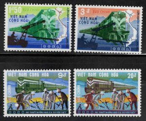 South Vietnam Scott 339-342 MNH** Train Railroad stamp set